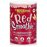 BIO Smoothie Pulver: 250g Red Smoothie Pulver mit Mango, Bio Rote Beete Pulver, Hagebutten Pulver, Bio Aronia Powder uvm. – Roter Smoothie Mix – Bio Smoothiepulver Mix für Drink Food von NutriPur