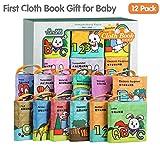 LukameJouets pour Bébé Livres en Tissu Jouets Éducatifs pour Nouveau-Nés pour Bébés Buillt In Bell pour Les Enfants