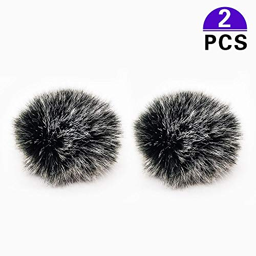 2 Stücke Lavalier Mikrofon Windschutz Furry Muff Mini Wind-Filter Pop-Filter für Lavalier Mikrofon Windshield Fell-Windschutz, 1cm