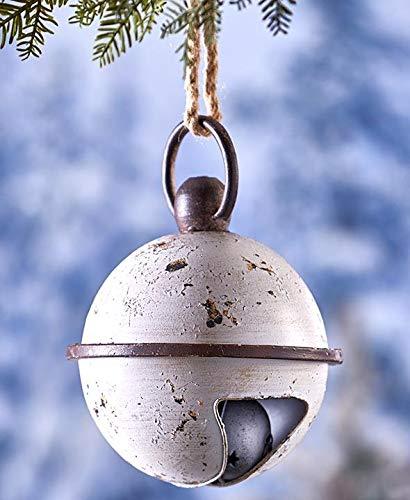 Tokogingseng Metal Christmas White Jingle Bell Porch Hanging...