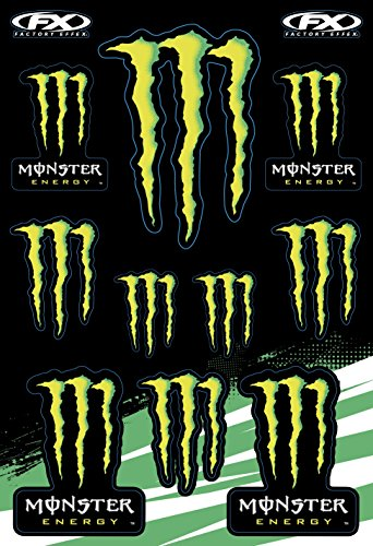 Motorbike and Bike decoration stickers decals promo set of sizes ,vinyl for Indoor/Outdoor Applications, individually removable from sheet Monster energy