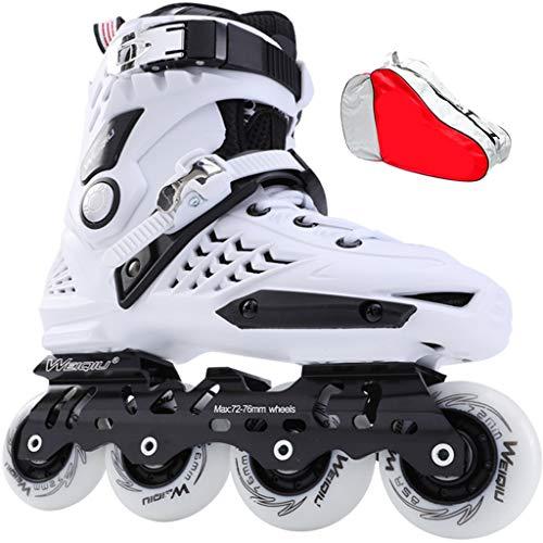 HHYK Inline-Skates für Erwachsene, für Anfänger und Damen, für Anfänger und Jugendliche, professioneller Rollschuh (schwarz und weiß) (Farbe: #2, Größe: EU 35/US 4/UK 3/JP 22,5 cm)