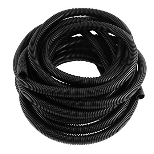 Aexit 17mmx21.2mm Flexible Shaft Collars Corrugated Conduit Tube Pipe Hose Wire Heat Shrinkable Shaft Collars 10M 33Ft