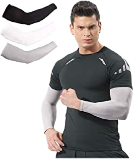 Product Discontinuation - Arm Sleeves for Men Women 3 Pairs/ 5 Pairs UV Protection Sun Sleeves To Cover Arms Cycling Drivi...