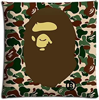 16x16 inch 40x40 cm throw pillow cases Polyester / Cotton Comfort Wrinkle free bape