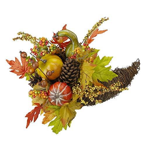 A Round Table Cornucopia Thanksgiving Centerpiece