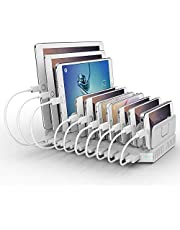 Alxum USB Charger with 10 Ports Multi-Port USB Charging Station, Fast Charger for Mobile Phone Tablet