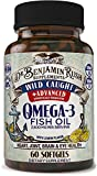 Wild Caught Fish Oil Omega 3 Premium Balanced Ratio DHA EPA Supplements Triple Strength 2500mg with Lemon, Burpless Pills, Quality USA Made, Highest Purity Mercury Free, Best Size Non-GMO Immunity