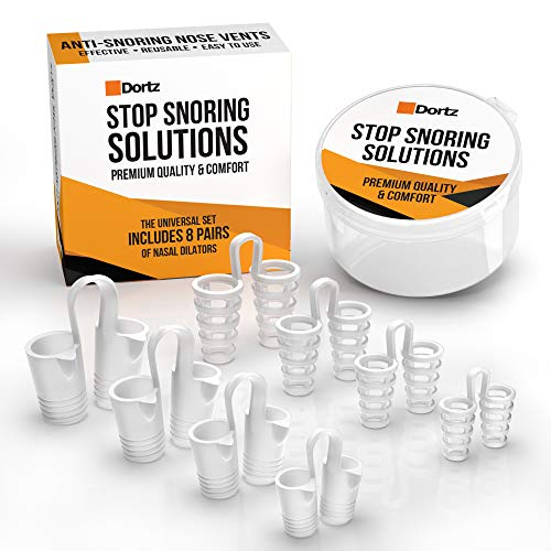 Snore Stopper Set - Anti Snoring Nose Vents (8pcs) - Set of 8 Nasal Dilators - Anti Snoring Devices - Snoring Solution - Devices Reduce Snoring