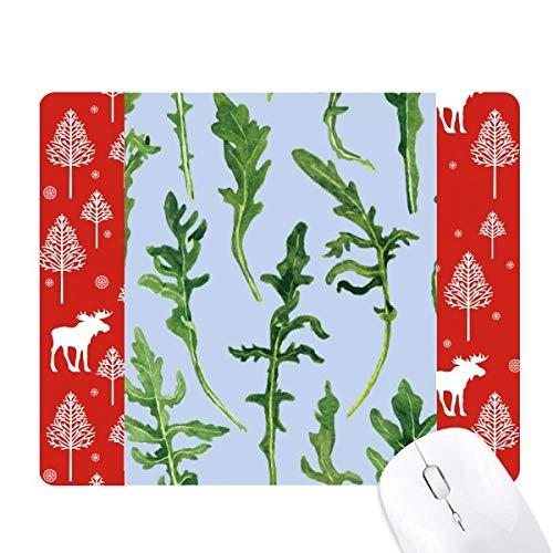 Fern Leaves Drawing Art Plant Christmas Woods Forest Deer Elk Mouse Pad