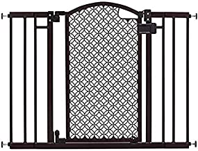 "Summer Modern Home Decorative Walk-Thru Baby Gate, Metal with Bronze Finish, Decorative Arched Doorway – 30"" Tall, Fits Openings up to 28"" to 42"" Wide, Baby and Pet Gate for Doorways and Stairways"