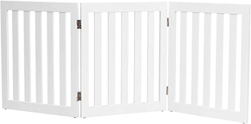 new arrival Giantex 24'' Wooden Dog Gate, Configurable Freestanding Pet Gate for Small to Medium Sized Pets, Step Over Fence, Foldable Panels for House Doorway Stairs Extra Wide discount Pet Safety Fence (60'' W, new arrival White) outlet online sale