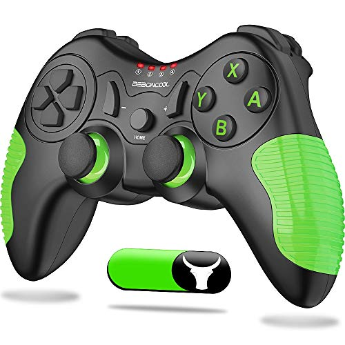 BEBONCOOL Wireless Pro Controller for Switch, Wireless Controller for Switch Pro Controller with Dual Shock, Motion Control Compatible with Switch/Switch Lite (Green)