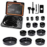 Tacklife-Hole Saw Kit, 17 Pieces 3/4''-5'' Full Set in...