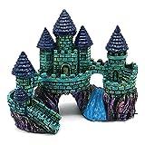 ZSQZJJ Acuario pecera decoración de paisajismo casa artesanías de Resina Antiguo Castillo pequeño Variedad de Adornos