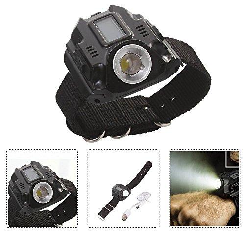 Lampes de Poche Extérieures LED Rechargeable-R2-Lampe-Heure-Date-SOS Bracelet montre lampe