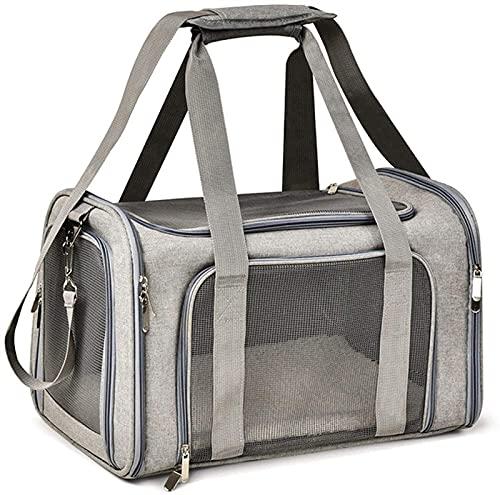 WWQQ Mochila pequeña para perro, gato, malla para ventana, bolsa de transporte para mascotas, aprobada por aerolíneas, mochila de cara suave para gatos
