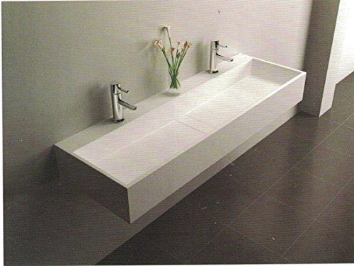 Waschtisch Wanddekoration aus Solid Oberfläche für Badezimmer 1200x 400x 150