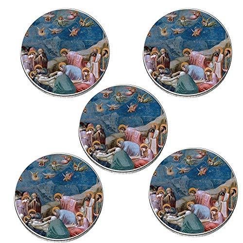 Moneda de Recuerdo de 5 Piezas 999,9 Moneda de Oro chapada en Plata Jesús Moneda de Metal Conmemorativa Desafío Gifts-Style_8
