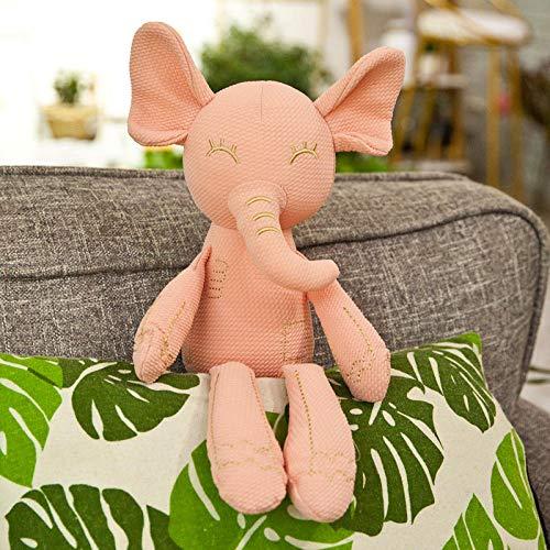 Grote oren sussen konijn kussen baby knuffel pop lappenpop-olifant roze _40cm