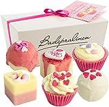 6er Set BRUBAKER Cosmetics Badepralinen'Blossom & Hearts' handgemacht und vegan