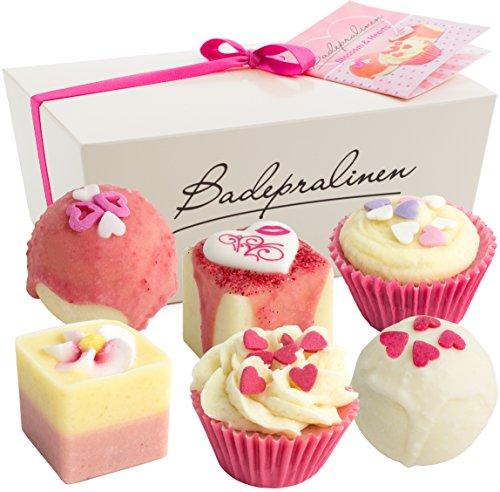 BRUBAKER Set cosmetica bombe da bagno 'Blossom & Hearts' Set da 6 pezzi fatti a mano e vegane