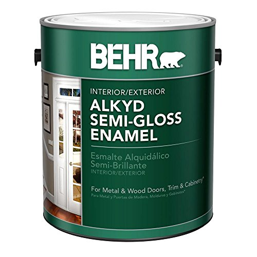 BEHR 1-Gal. White Alkyd Semi-Gloss Enamel Interior/Exterior Paint