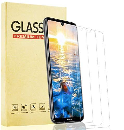 Lixuve 3 Unidades Cristal Templado para Xiaomi Redmi Note 8, Protector de Pantalla Vidrio Templado con [9H Dureza] [Alta Definicion] [Anti-Arañazos] [Anti-Burbuja]