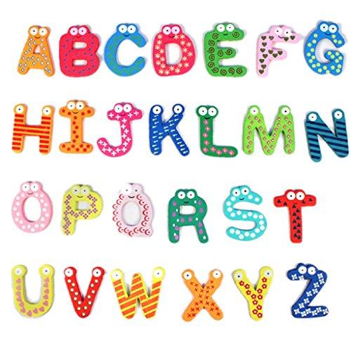 Ularma Lindo Juguetes educativos de bebé colorido lindo 26 letras madera animados...