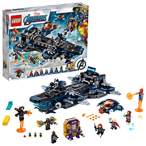 LEGO Marvel Avengers Helicarrier 76153 Fun Brick Building Toy with Marvel Avengers Action Minifigures, Great Gift for Kids Who Love Airplanes and Superhero Adventures (1,244 Pieces)