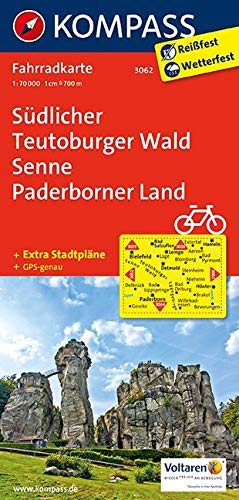KOMPASS Fahrradkarte Südlicher Teutoburger Wald - Senne - Paderborner Land: Fahrradkarte. GPS-genau. 1:70000 (KOMPASS-Fahrradkarten Deutschland, Band 3062)
