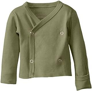 L'ovedbaby Unisex-Baby Newborn Organic Wrap Shirt - Green -