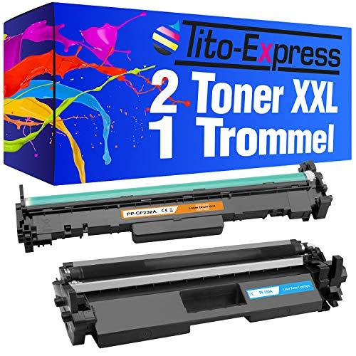 Tito Express PlatinumSerie 1 Toner & 1 Tamburo per HP CF230A & CF232A (09) 2 Toner & 1 Trommel