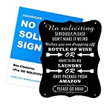 8X10 Acrylic Funny No Soliciting Signs Don't Make It Weired Package from Amazon Do My Laundry Do Not Knock No Solicitor Yard Signs for Home House Business Door Weather Resistant Long Lasting Printing