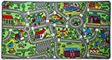 "Click N' Play City Life Kids Road Traffic Play mat Rug Large Non-Slip Carpet Fun Educational for Play area Playroom Bedroom-59"" x 31 1/2"""