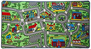 """Click N' Play City Life Kids Road Traffic Play mat Rug Large Non-Slip Carpet Fun Educational for Play area Playroom Bedroom-59"""" x 31 1/2"""""""