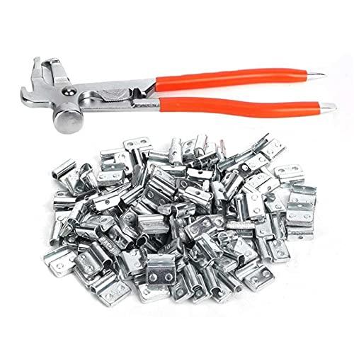 ZIHAN Feil Store 100 unids 10 g / 0.35oz Aleación de Aluminio Clip en la Rueda de Gancho Equilibrio de Peso P-Estilo Auto Neumático Reparación con alicates de Equilibrio