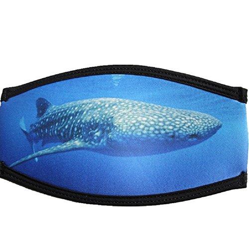 Jiaa Schnürung Tauchmasken Haarbänder Schutzhüllen Gesichtsspiegelgurte Schnorchelband Tieftauchen Doppelschicht,Blau,Einheitsgröße
