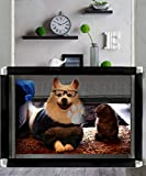 Nifogo Barrera Seguridad Escalera Red de Seguridad Puertas de Seguridad Protector Seguro para Perros y Niños, Magic Gate para Bebe, Gato y Mascota, 100 * 80cm (A-Negro)