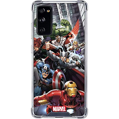 Skinit Clear Phone Case Compatible with Samsung Galaxy S20 FE - Officially Licensed Marvel Avengers Team Power Up Design