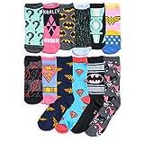 DC Comics 12 Days of Socks Adventskalender Set für Damen, Schuhgrößen 34-38