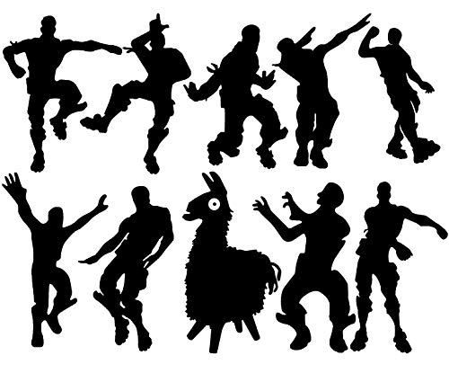 """10 X nite Xbox Game Wall Decal Poster Floss Dancing Wall Stickers Murals for Kids Room Bedroom Living Room Game Room Decor (23.6"""" x 34"""") (Black)"""