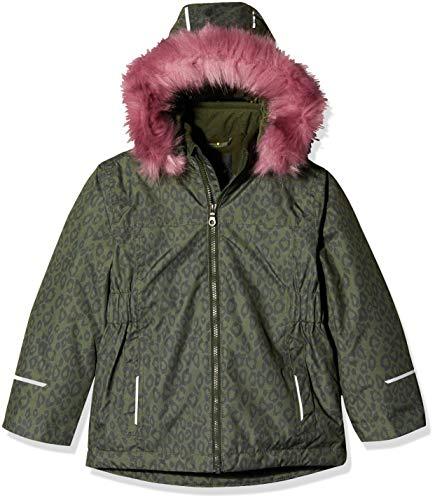 NAME IT Mädchen NKFSNOW08 Jacket Leo 1FO Jacke, Grün (Rosin Rosin), (Herstellergröße: 134)