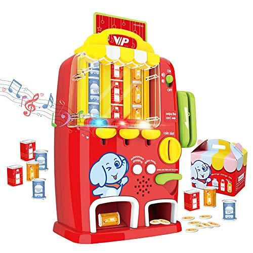 deAO Máquina Expendedora Parlante (Lengua Inglesa) Juguete de Simulación con Luz, Sonido y Accesorios Incluidos - Juego Educativo Infantil