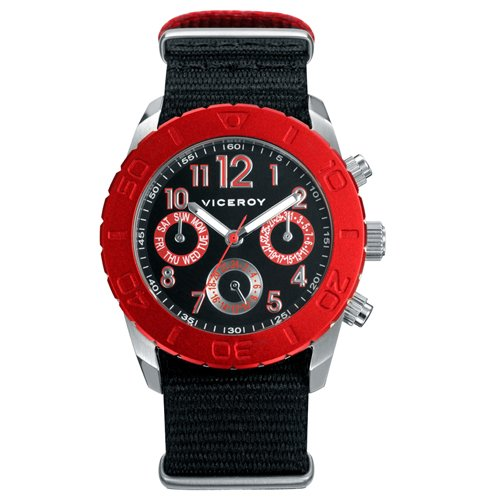Viceroy 46527-55 - Reloj Infantil, Correa de Tela Color Negro