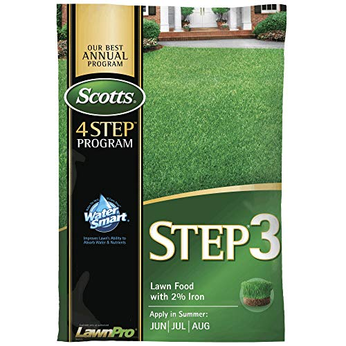Scotts 33040 Step-3 Lawn Food with 2% Iron, 5000 Sq Ft Coverage
