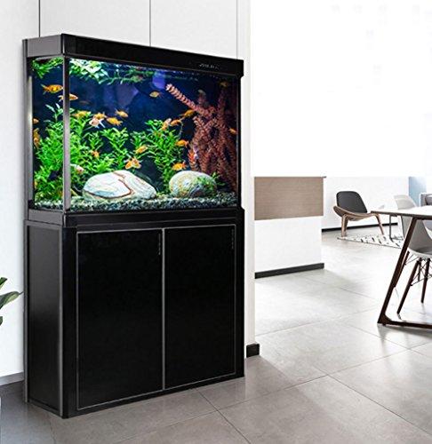 JIANGU Großes Aquarium, Filter Fischtank, stromlinienförmiges Wohnzimmer Fischtank, Glas ökologisches Aquarium