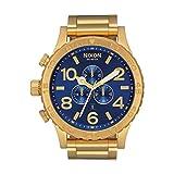 Nixon Reloj Cronógrafo para Hombre de Cuarzo con Correa en Acero Inoxidable A083-2735-00
