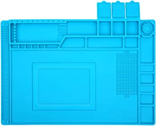 E·Durable 作業マット デスク修理マット 耐熱パッド 絶縁パッド 卓上作業 はんだ 耐熱 溶接用 500℃高温熱風に耐える 無毒 静電気防止 断熱 滑り止め シリコン製 45*30cm