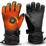 Foxelli Heated Gloves – Rechargeable Waterproof Electric Gloves for Men & Women